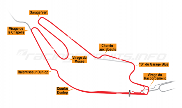 Map of Le Mans, Bugatti Circuit 2000-01