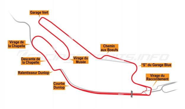 Map of Le Mans, Bugatti Circuit 2006