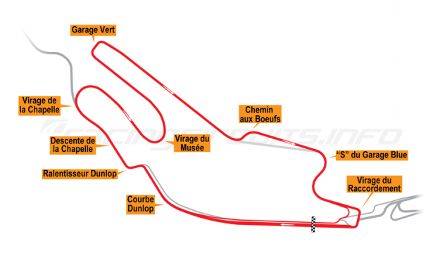 Map of Le Mans, Bugatti Circuit 2007