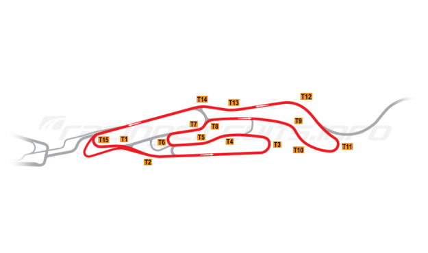 Map of Le Mans, Maison Blanche Circuit 1 2008-14