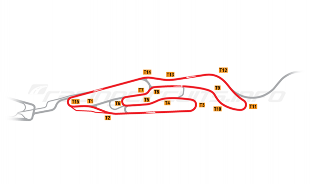 Map of Le Mans, Maison Blanche Circuit 1 2015 to date