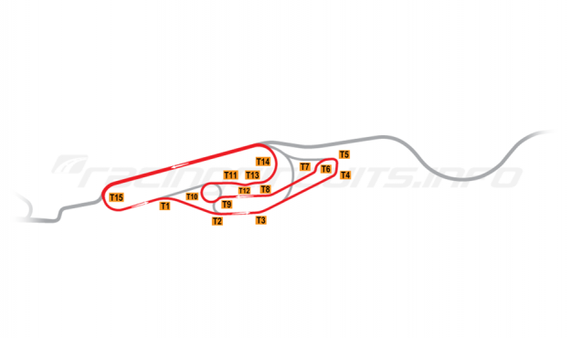 Map of Le Mans, Maison Blanche Circuit 1 1987-88