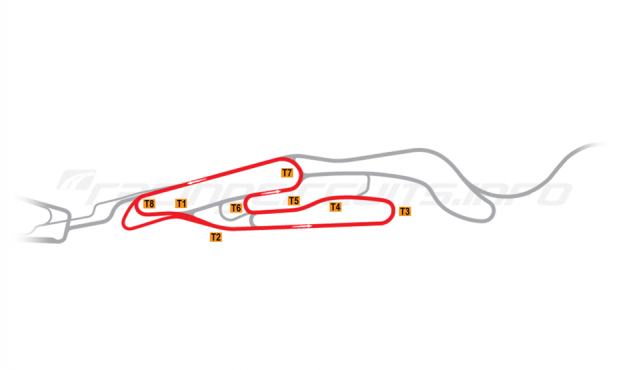 Map of Le Mans, Maison Blanche Circuit 2 2008-14