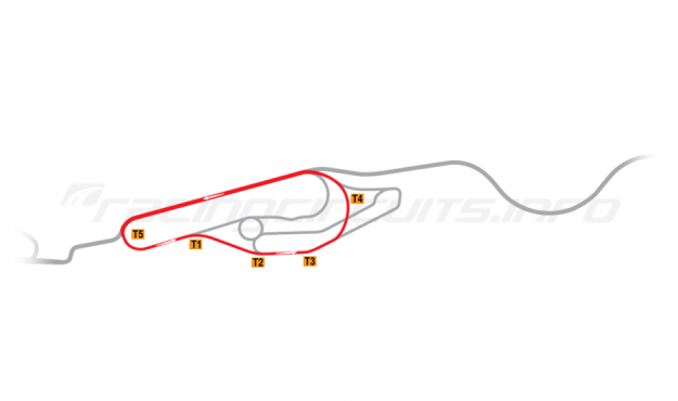 Map of Le Mans, Maison Blanche Circuit 2 1986