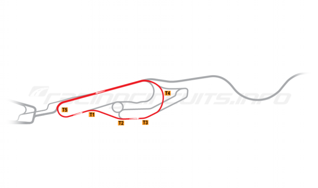 Map of Le Mans, Maison Blanche Circuit 2 1990