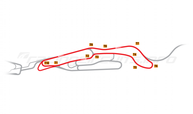 Map of Le Mans, Maison Blanche Circuit 3 2008-14