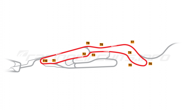 Map of Le Mans, Maison Blanche Circuit 3 2015 to date
