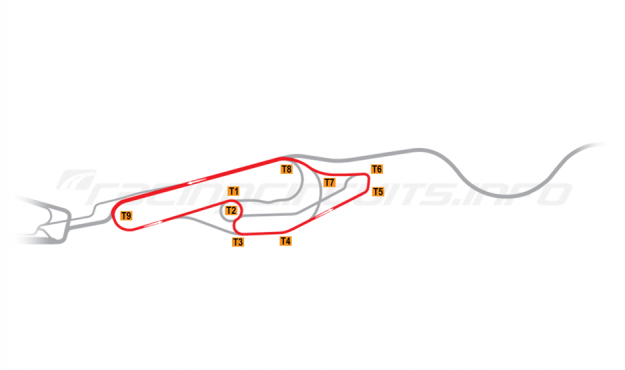 Map of Le Mans, Maison Blanche Circuit 3 1991-96