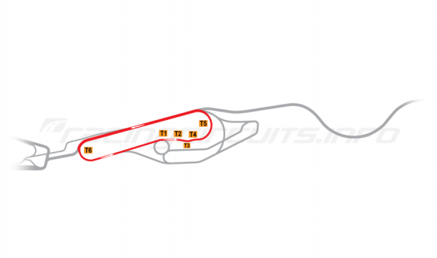 Map of Le Mans, Maison Blanche Circuit 4 2006