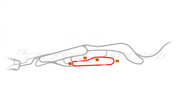 Map of Le Mans, Maison Blanche Circuit 4 2008-14