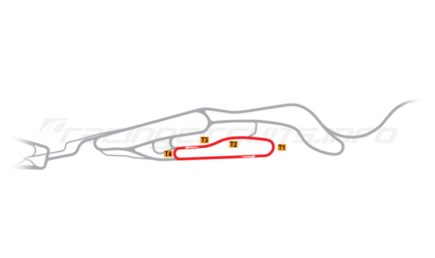 Map of Le Mans, Maison Blanche Circuit 4 2015 to date