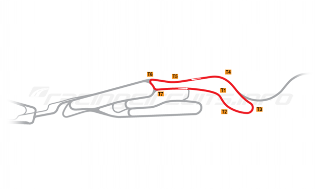 Map of Le Mans, Maison Blanche Circuit 5 2007