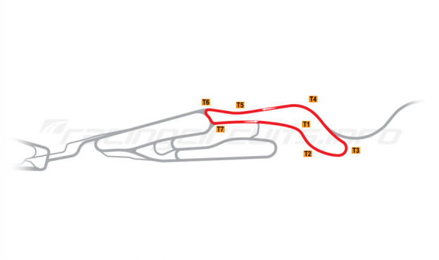 Map of Le Mans, Maison Blanche Circuit 5 2015 to date