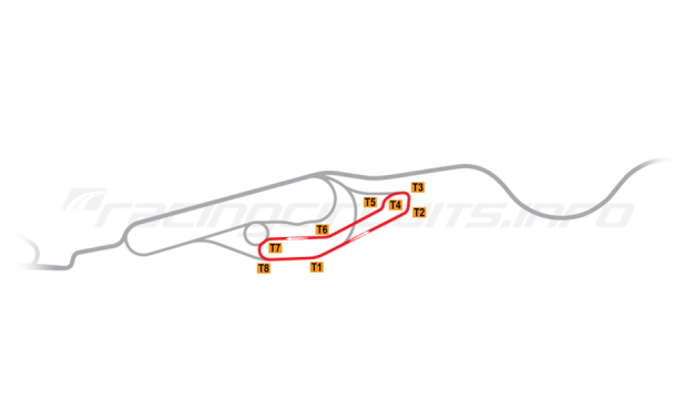 Map of Le Mans, Maison Blanche Circuit 5 1976-78