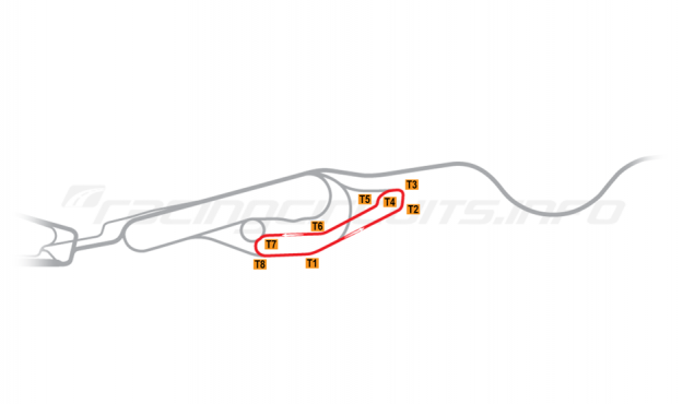 Map of Le Mans, Maison Blanche Circuit 5 1991-96