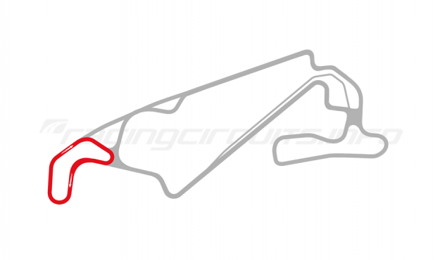Map of Lihpao International Circuit, Thunder Circuit 2018 to date