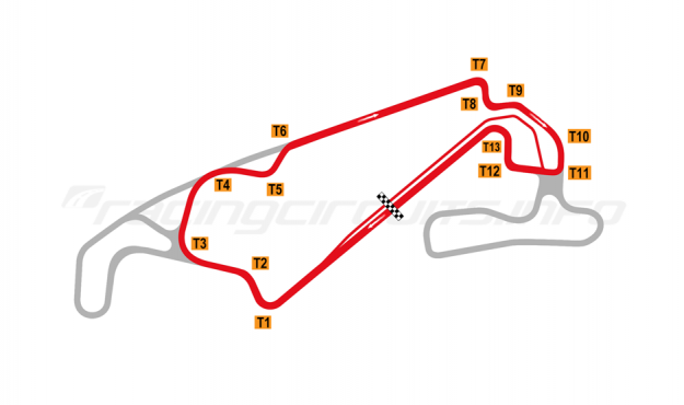 Map of Lihpao International Circuit, Wind Circuit 2018 to date