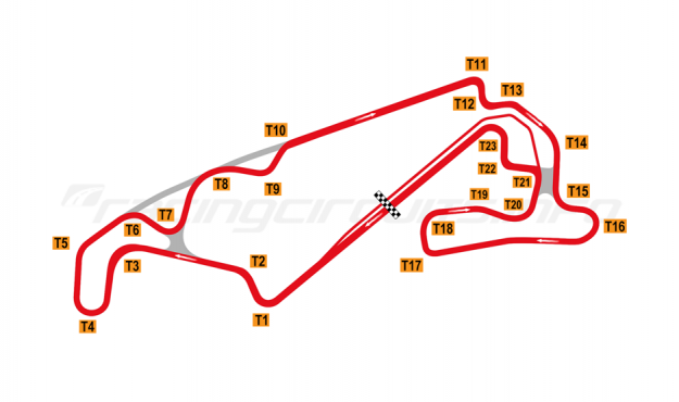 Map of Lihpao International Circuit, 2018 to date