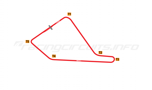 Map of Magny-Cours, 'Jean Behra' Circuit 1961-1970