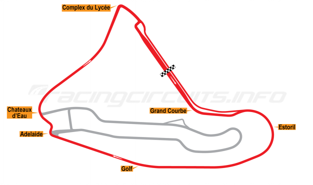 Map of Magny-Cours, National Circuit 2003 to date