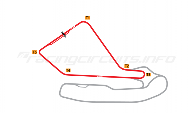 Map of Magny-Cours, National Circuit 1971-1988