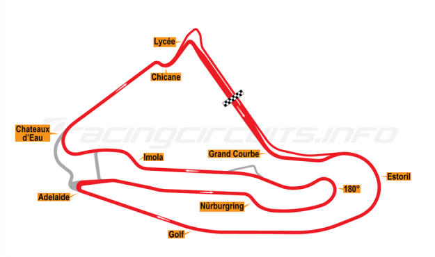 Map of Magny-Cours, Grand Prix Circuit 2001-02