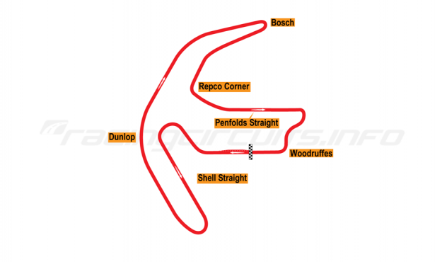 Map of Mallala, Full circuit 1961-63