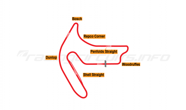 Map of Mallala, Full circuit 1964-71