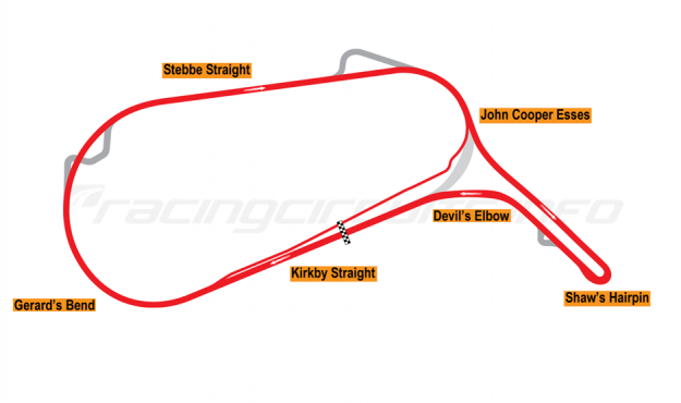 Map of Mallory Park, 2006 to date