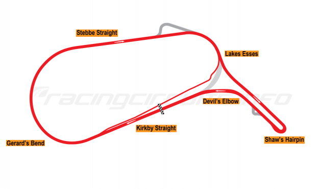 Map of Mallory Park, Car Circuit 2005