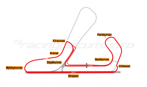 Map of Mantorp Park, Long circuit 1981-96