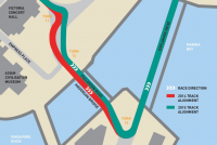 The revised Turn 11 to 13 section at Singapore's Marina Bay Street Circuit