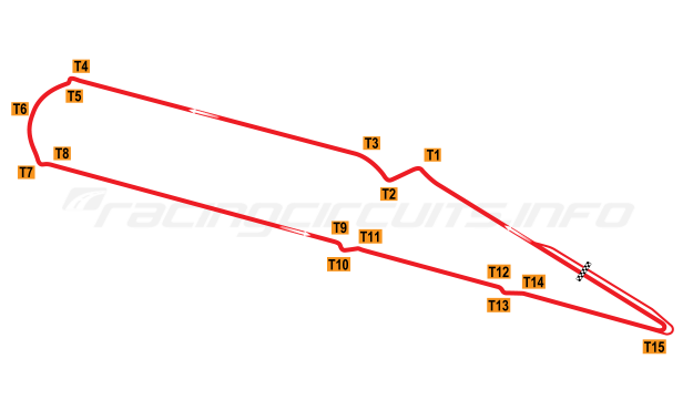 Map of Marrakesh, Circuit Moulay El Hassan 2009-15