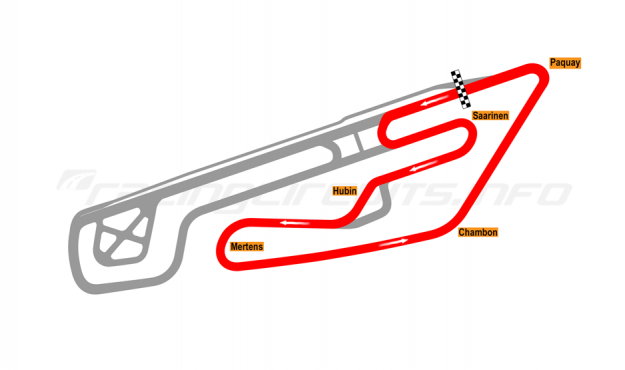 Map of Mettet, Circuit Jules Tacheny East (cars) 2012 to date