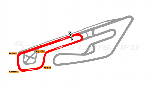 Map of Mettet, Circuit Jules Tacheny West 2012 to date