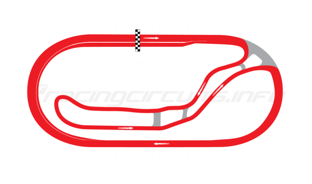 Map of Milwaukee Mile, Road Course 2004 to date