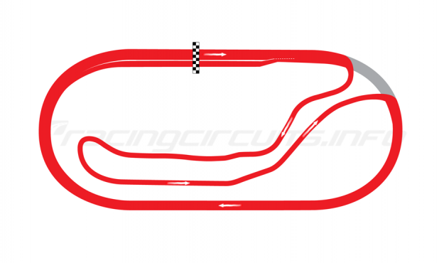 Map of Milwaukee Mile, Road Course (used up to 1984) 1967-95