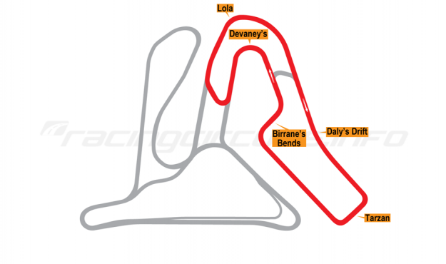 Map of Mondello Park, International Loop Circuit 1998 to date