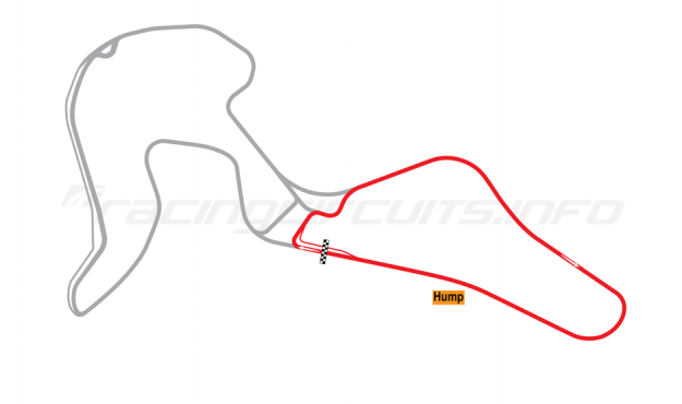 Map of Mont-Tremblant, South Circuit 2002 to date