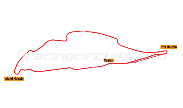 Map of Circuit Gilles Villenueve, Grand Prix Circuit 1979-86