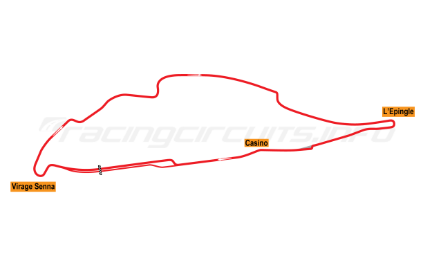 Map of Circuit Gilles Villenueve, Grand Prix Circuit 1994-95