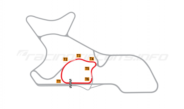 "Map of Morgan Park Raceway, Circuit ""A""  2010 to date"