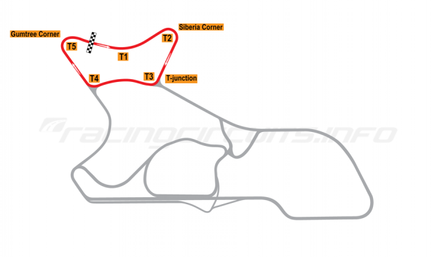 "Map of Morgan Park Raceway, Circuit ""C""  2010 to date"
