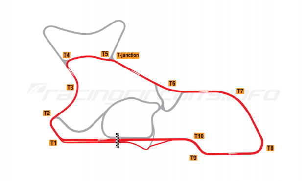"Map of Morgan Park Raceway, Circuit ""H""  2010 to date"