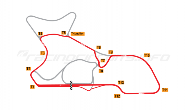"Map of Morgan Park Raceway, Circuit ""I""  2010 to date"