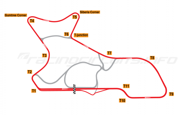 Map of Morgan Park Raceway, 2010 to date