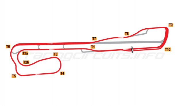 Map of Palm Beach International Raceway, Road Course 2001