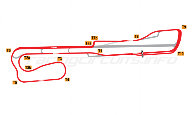 Map of Palm Beach International Raceway, Road Course 2002-2007