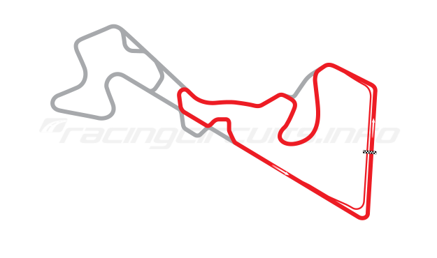 Map of Moscow Raceway, Sprint Circuit 3 2012 to date