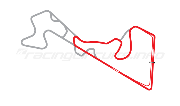 Map of Moscow Raceway, Sprint Circuit 4 2012 to date